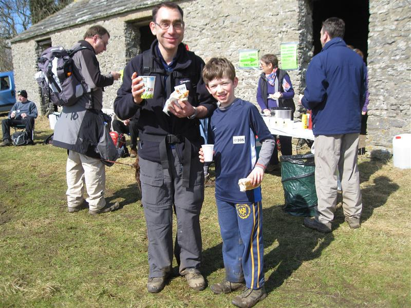 Wensleydale Wander 2013 Report - Grandson and Son in Law of the Rotary Club's president enjoying their 2nd or 3rd long Wander