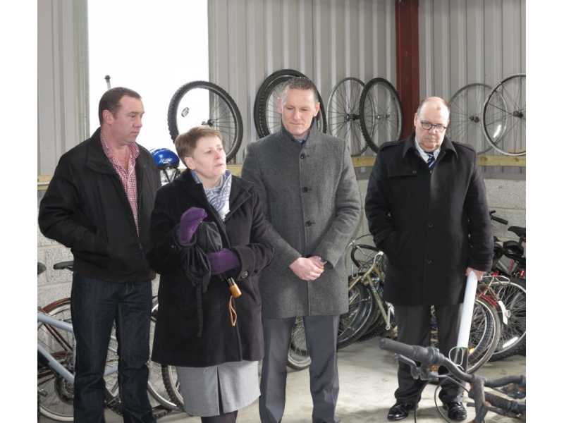 Project - Bikes4Africa - Governor and Deputies of Loughan Prison with Rotarian Trevor Stewart, Lisburn Club (Lead for Bikes4Africa)