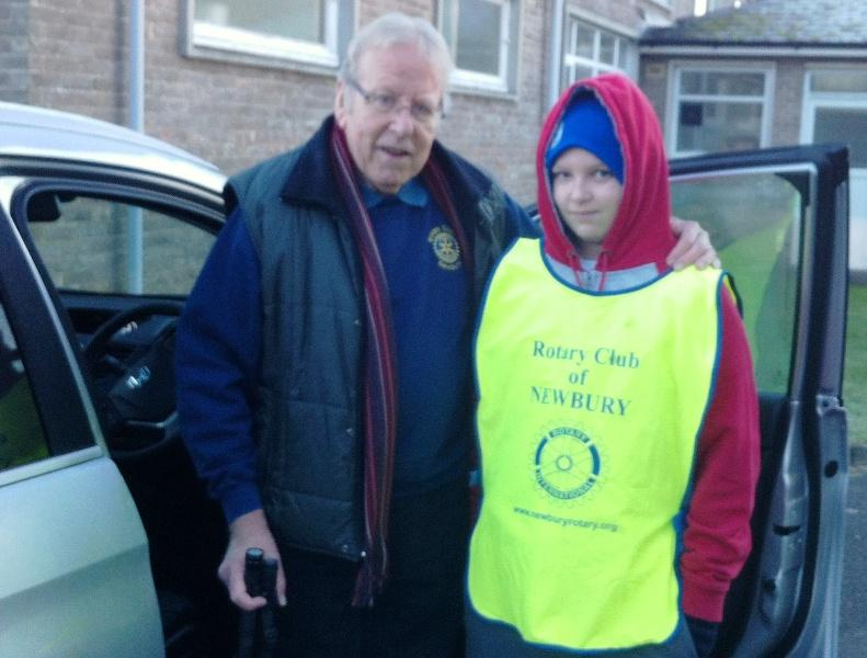 Newbury Weekly News Over 80's Parcel Distribution - with his young grandson helper
