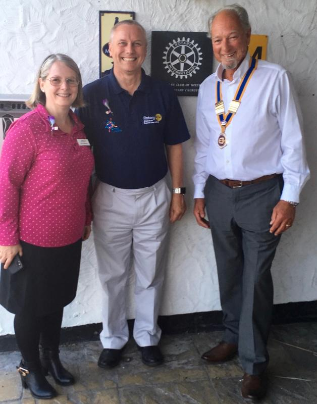 District Governor Bob Maskall visit to Holyhead. -