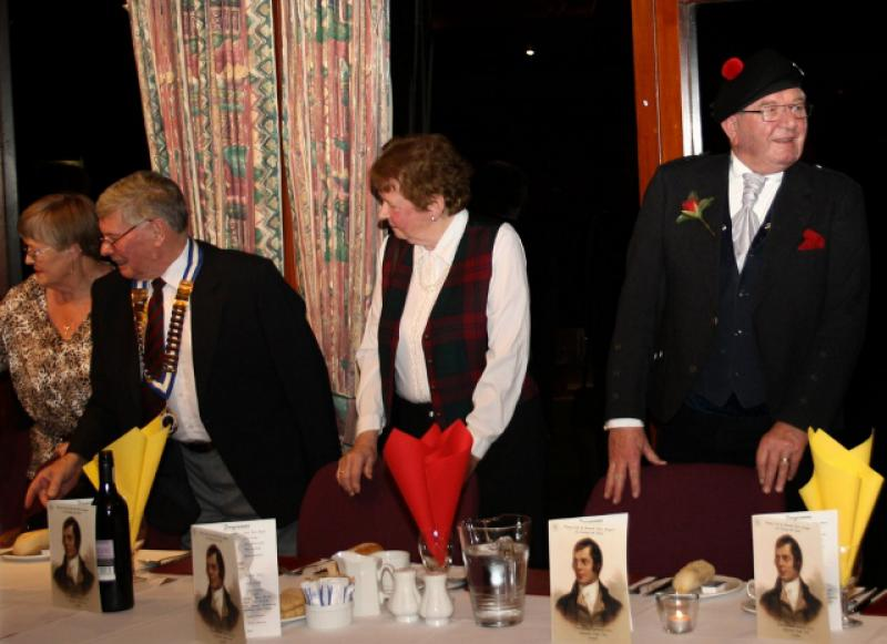 Burns Supper 2014 - Top table