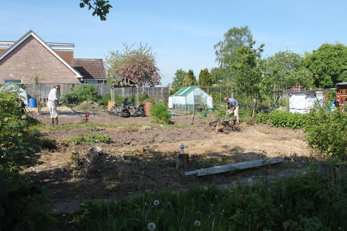 The Rotary Allotment takes shape - Getting serious now.