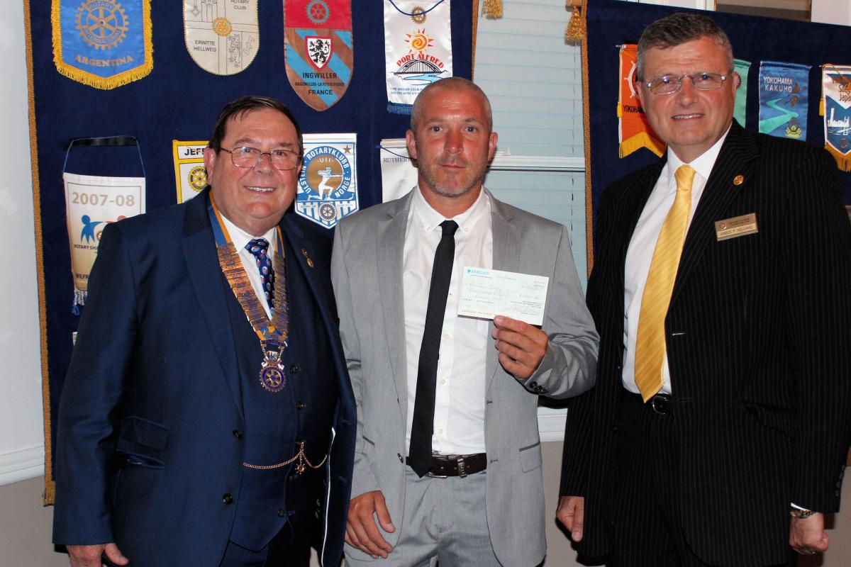 Donations - From Concord Rangers under 14s Receiving a cheque for £360 from the Furtherwick Park Legacy Fund