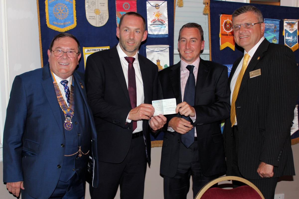 Donations - Receiving a cheque for Concord Rangers under 13s for £2990.38 From the Furtherwick Park Legacy Fund