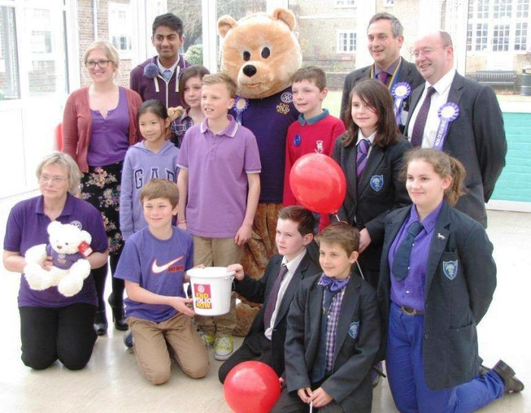 Park House School Turns Purple - and Newbie Bear