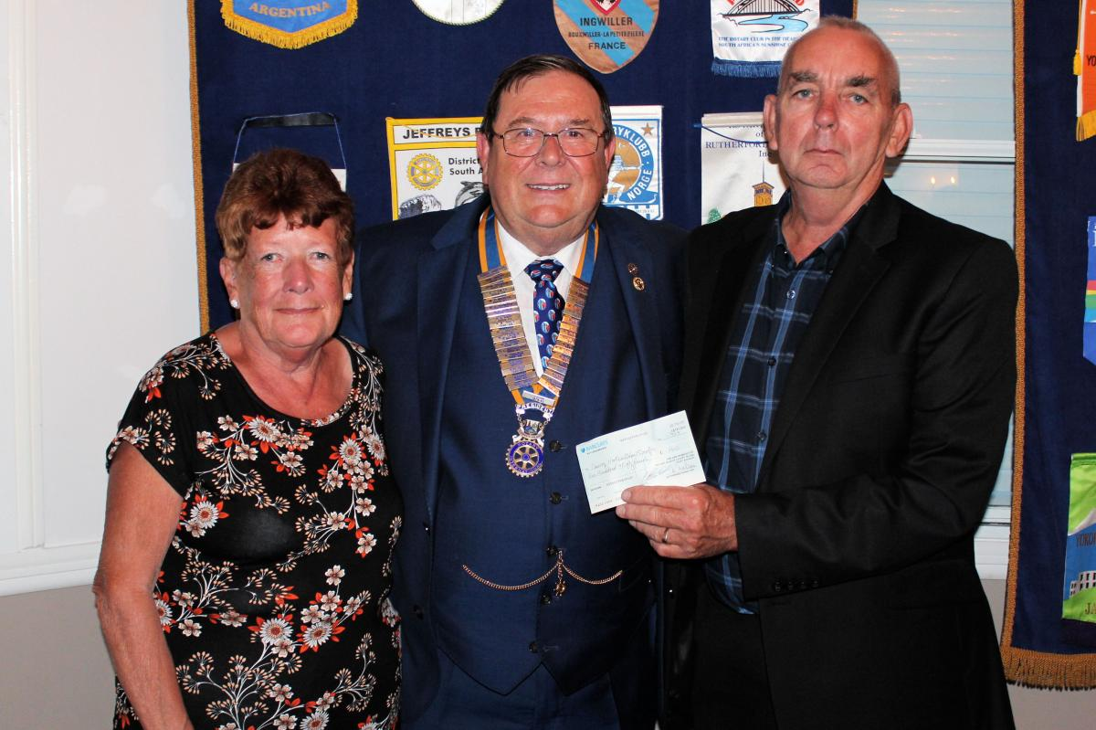 Donations - From Canvey Island Horticultural society recieved a cheque for £150
