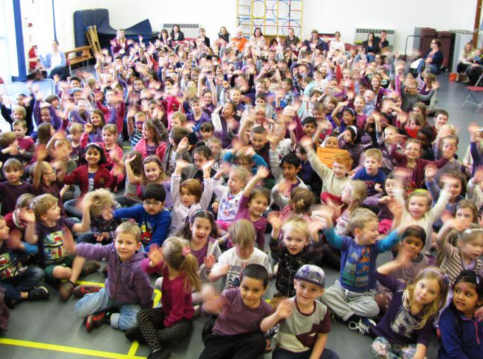 Purple Clothes Day WINCHCOMBE Primary School - A purple assembly