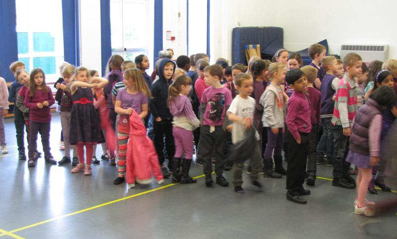 Purple Clothes Day WINCHCOMBE Primary School - Turns Purple for End Polio Now