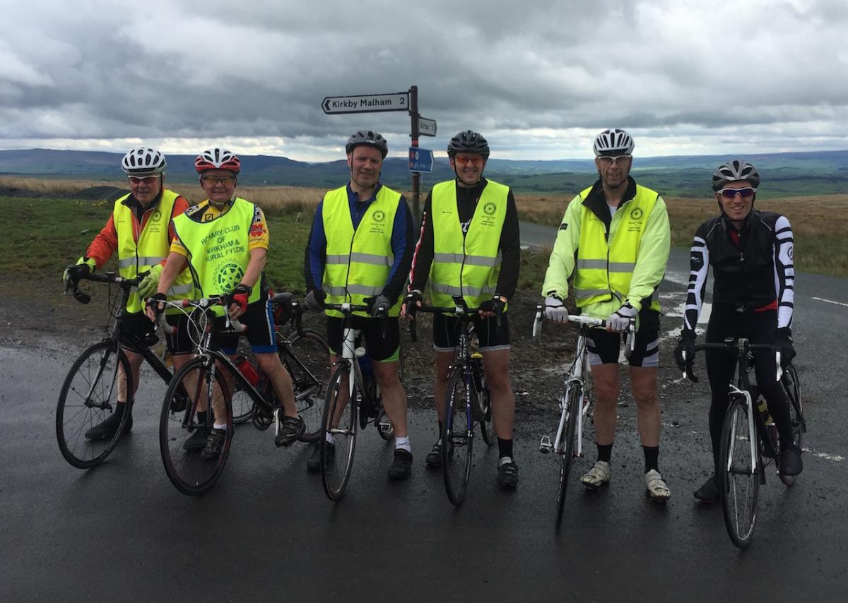 Kirkham Rotary coast to coast ride 2016 - The highest point on the entire route.