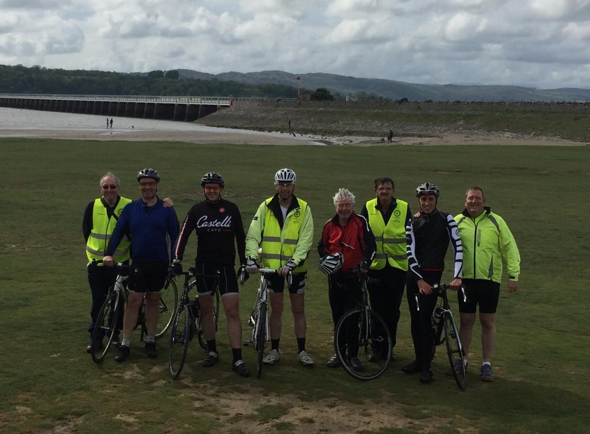 Kirkham Rotary coast to coast ride 2016 - Finally made it to the end at Arnside.