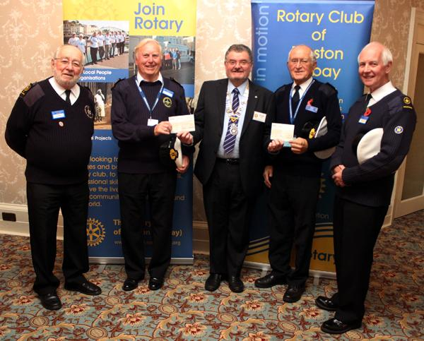 Supporting National Coastwatch - Torbay - (October 2015) - From left to right: