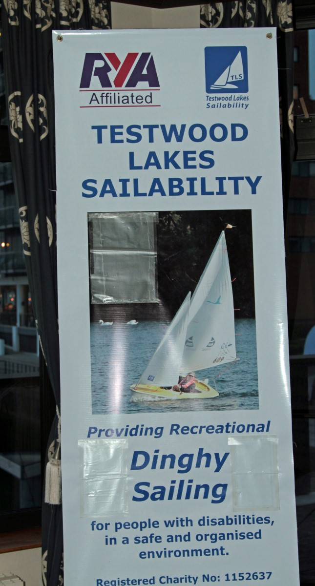 PRESIDENT'S NIGHT.  - Testwood Lakes Sailability.  Four special guests were present.