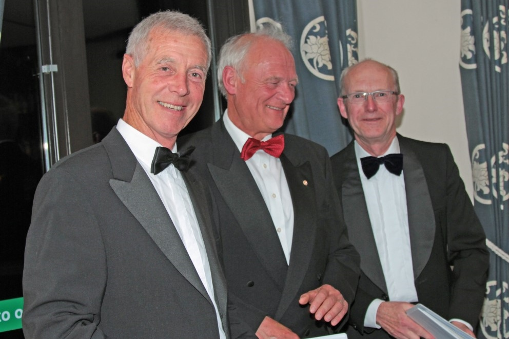 PRESIDENT'S NIGHT.  - George Stephens,Steve Timms and Jeremy Taylor.
