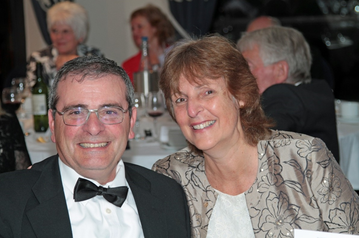 PRESIDENT'S NIGHT.  - Nicola. our Master of Ceremonies, with Tony.