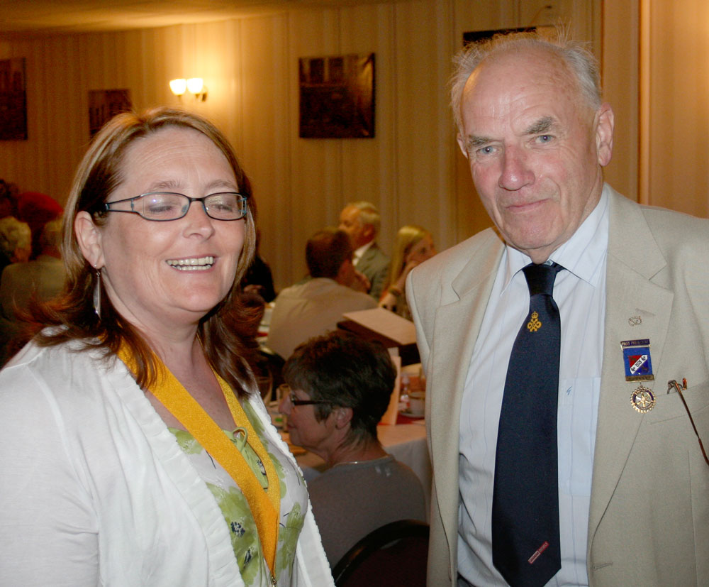 President's Changeover Night 4 July 2011 - President Elect Lorraine and former member David