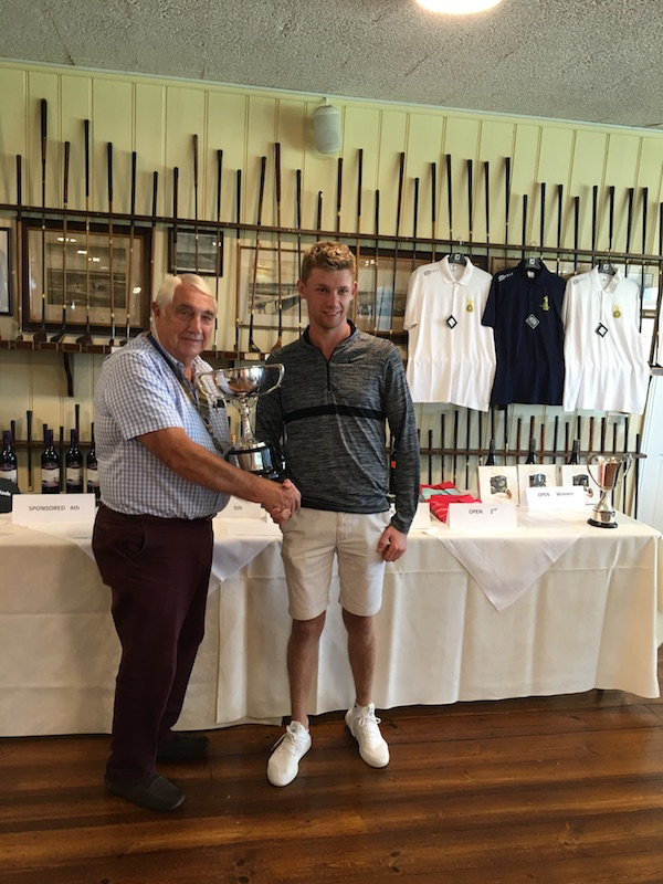CHARITY GOLF DAY - 31ST AUGUST 2019 - IMG 7083-Ben Craig fom Hinkley - Winner of the longest drive