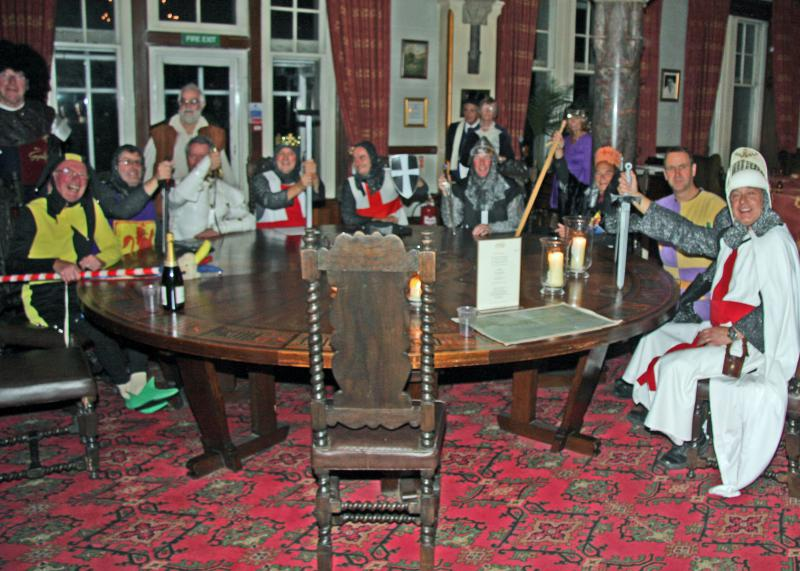 Away Weekend - The King and Knights gather at the round table to discuss the order of the evening