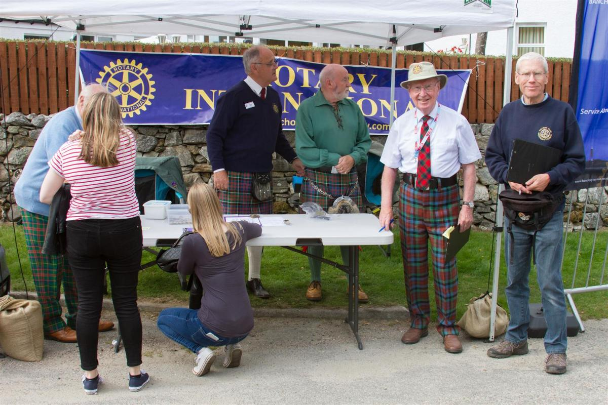 Royal Braemar Highland Gathering 1st September 2018  - The raffle sales team