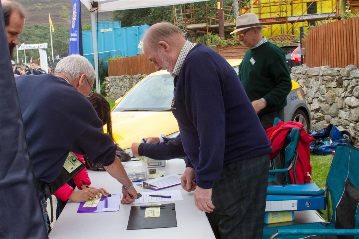 Royal Braemar Highland Gathering 1st September 2018  - Hard at work selling raffle tickets.