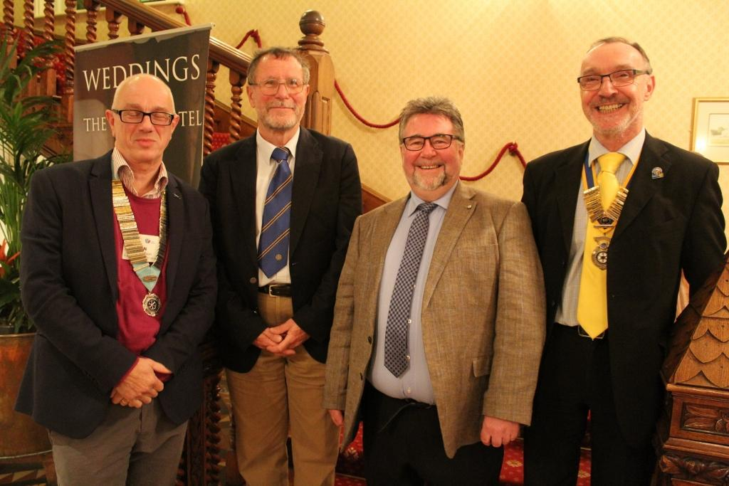 District Governor Visit - DG Alan, Pres Richard with Andy and Ian