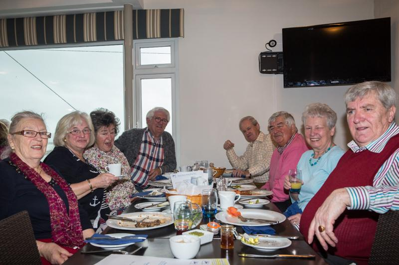 2014-01-26 Inner Wheel Overseas Brunch - Madame President with her guests.