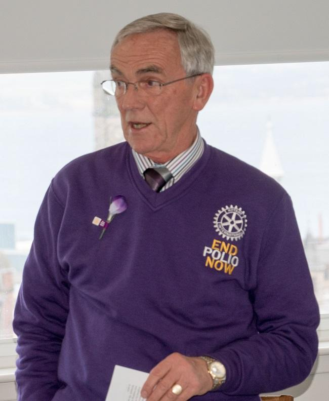 World's Greatest Meal and Surprise for Rtn. John Paul - Ian Christie, President of the Rotary Club of Loudon and District co-ordinator for End Polio gives a status update on the End Polio campaign.