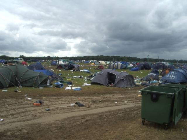 V Festival 2008 - Tent Collection -  Monday - A scene of devastation, mud & a host of tents for us to collect.