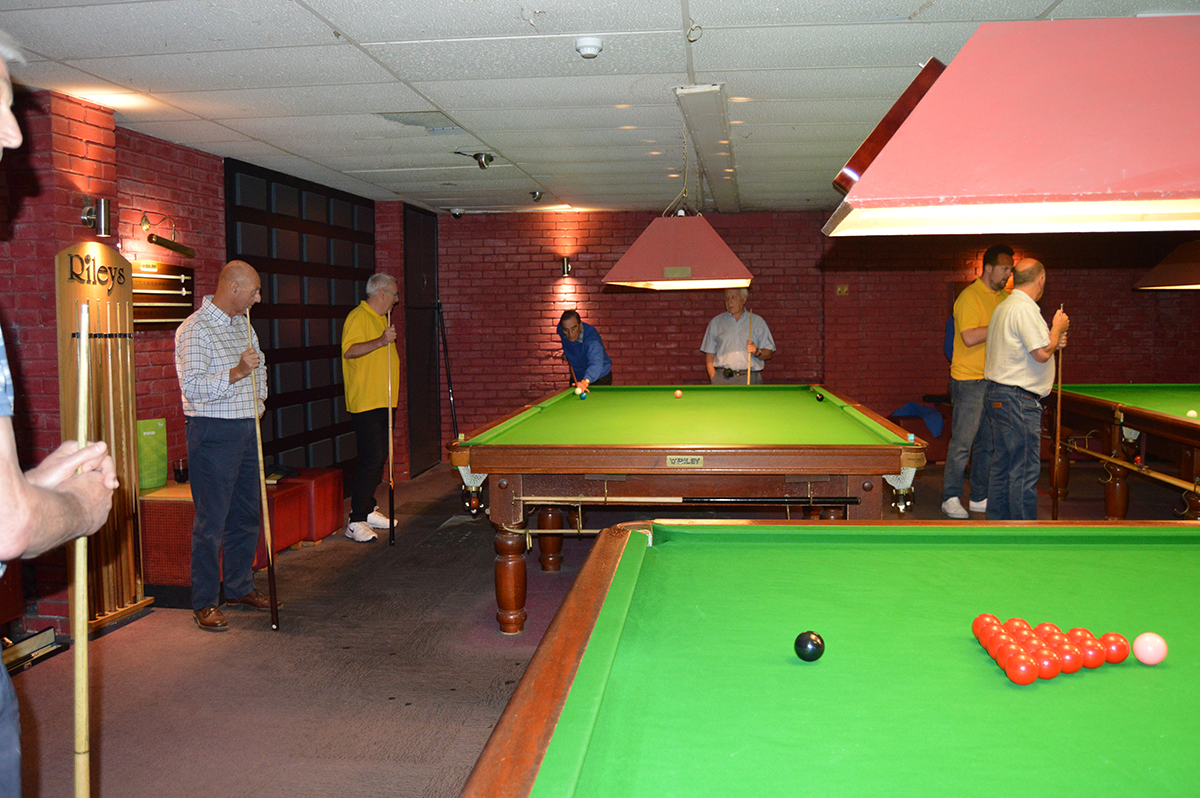 Annual Snooker Match v Abbeydale Rotary Club - Match in play.