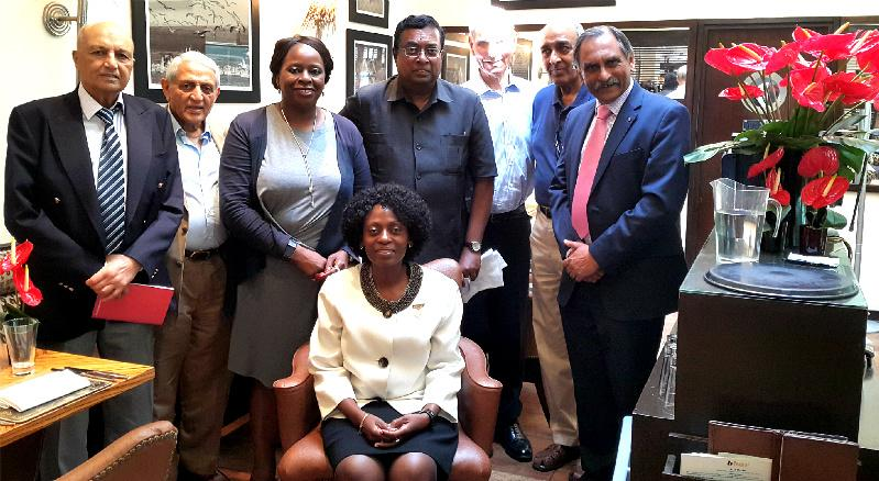 Presidential Handover Rotary Year 2017-18 - Rotarians of Westminster West met for lunch at the Bbar on 5 July 2017.