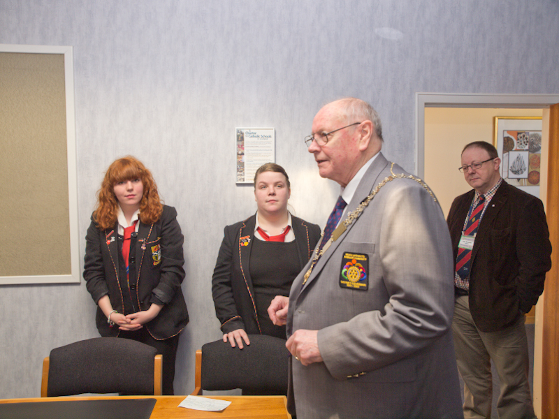 St Andrews RC HS Interact Club Charter - DG Iain presenting the Charter