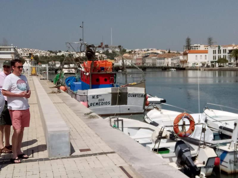 Visit to Rotary e-club in Olhao, Portugal in 2018 - President Phil may have turned his back on his fellow members but is just dreaming of his new yacht