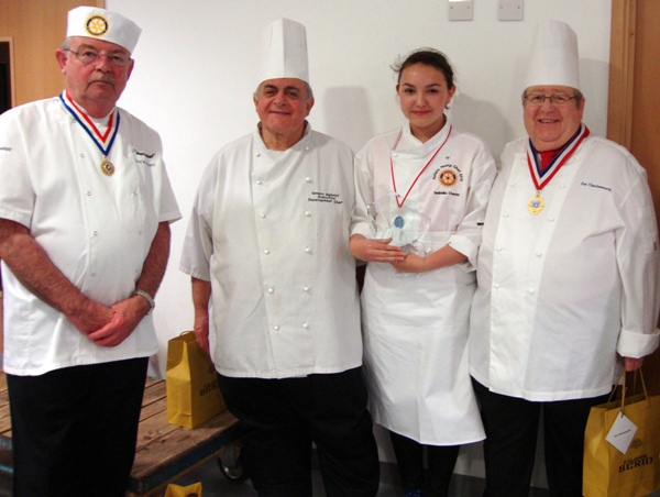 Fleet Young Chef wins Rotary National competition in Abingdon - 21 April 2012 - Isabelle with the judges 1