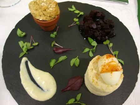 Fleet Young Chef wins Rotary National competition in Abingdon - 21 April 2012 - Isabelle's starter