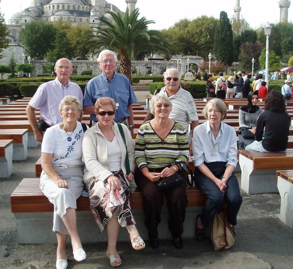 Istanbul Cultural Visit - Kevin, Mark, Rob, Flick, Wilma, Jan and Christiane