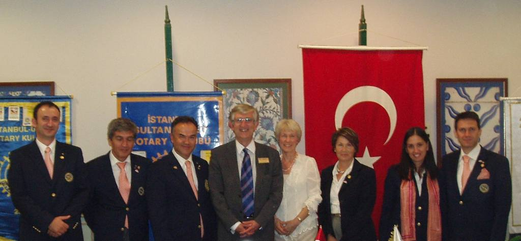 Istanbul Cultural Visit - Rex & Marion with the other club presidents