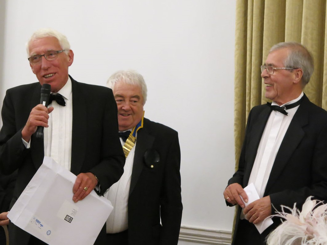 John Robinson – Paul Harris Fellowship award  - John thanking the Club for an award that, prior to the actual presentation, he did not know he was to receive