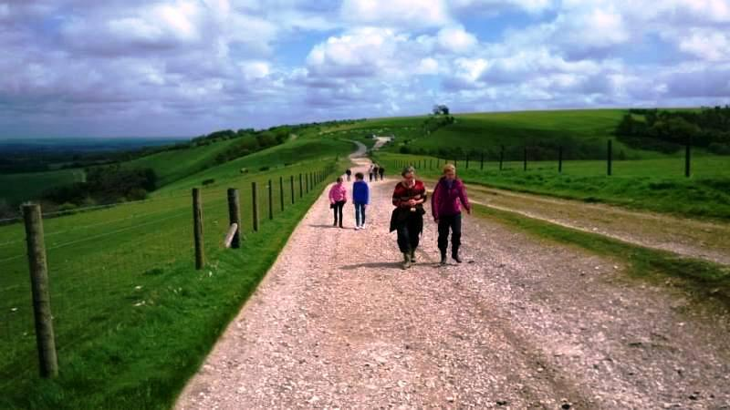 Sponsored walk 2014 - on the way up