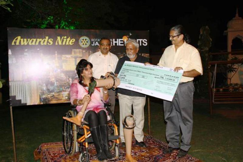 Charities we have or are supporting - Cheque presentation to JLP for low cost prosthetic limbs