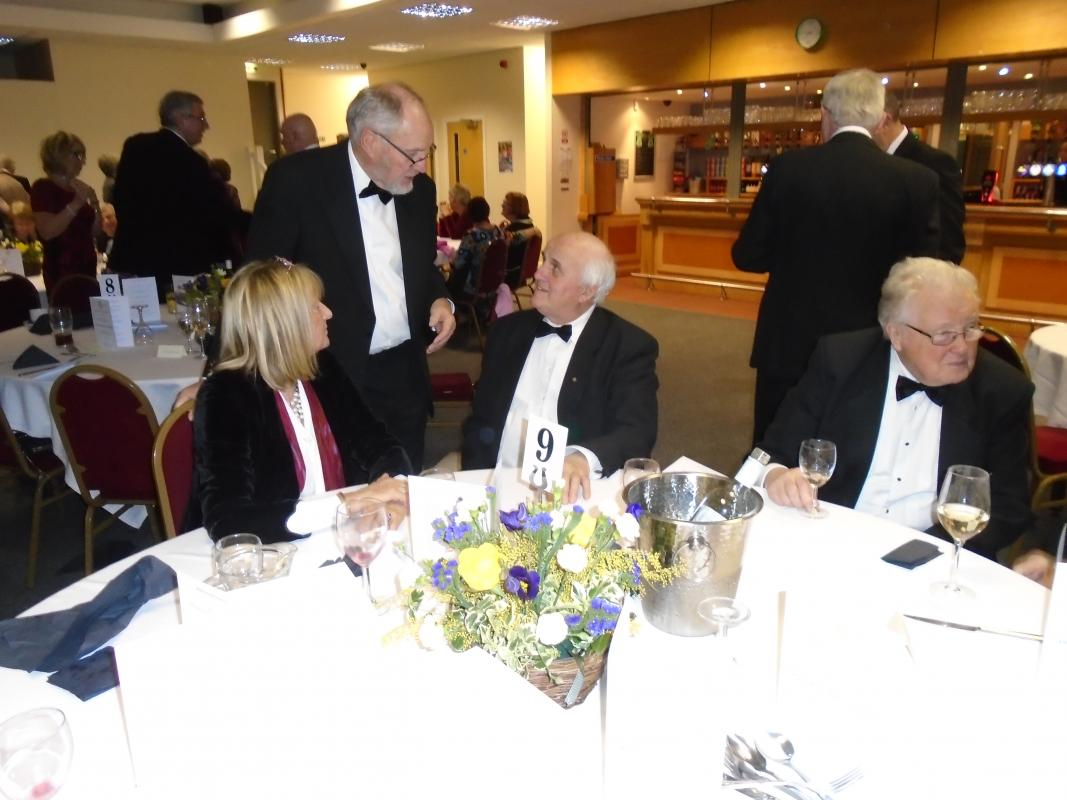 Nantwich Rotary 85th Charter Night - Janet & Robin Latham,Tony West and Geoff Parsons