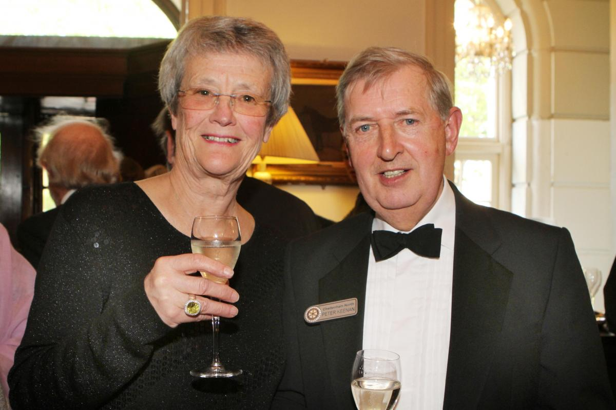 Cheltenham North Charter Anniversary Dinner 26th April 2012 - Janet and Peter Keenan