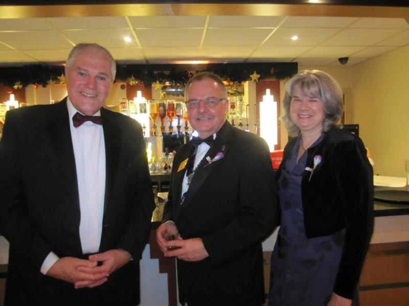 BLACKPOOL SOUTH ROTARY CLUB 2013  CHARTER DINNER.  - Jeff Meadows,Kevin & Wendy.