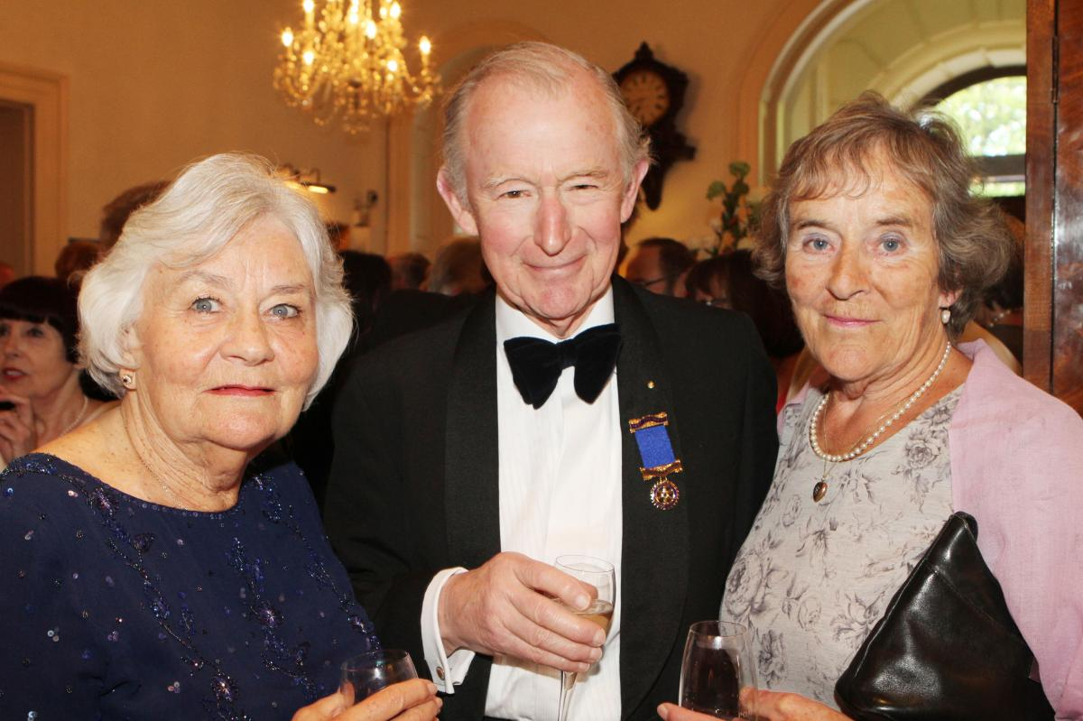 Cheltenham North Charter Anniversary Dinner 26th April 2012 - Jill and Geoffrey Fox with Dawn Adams