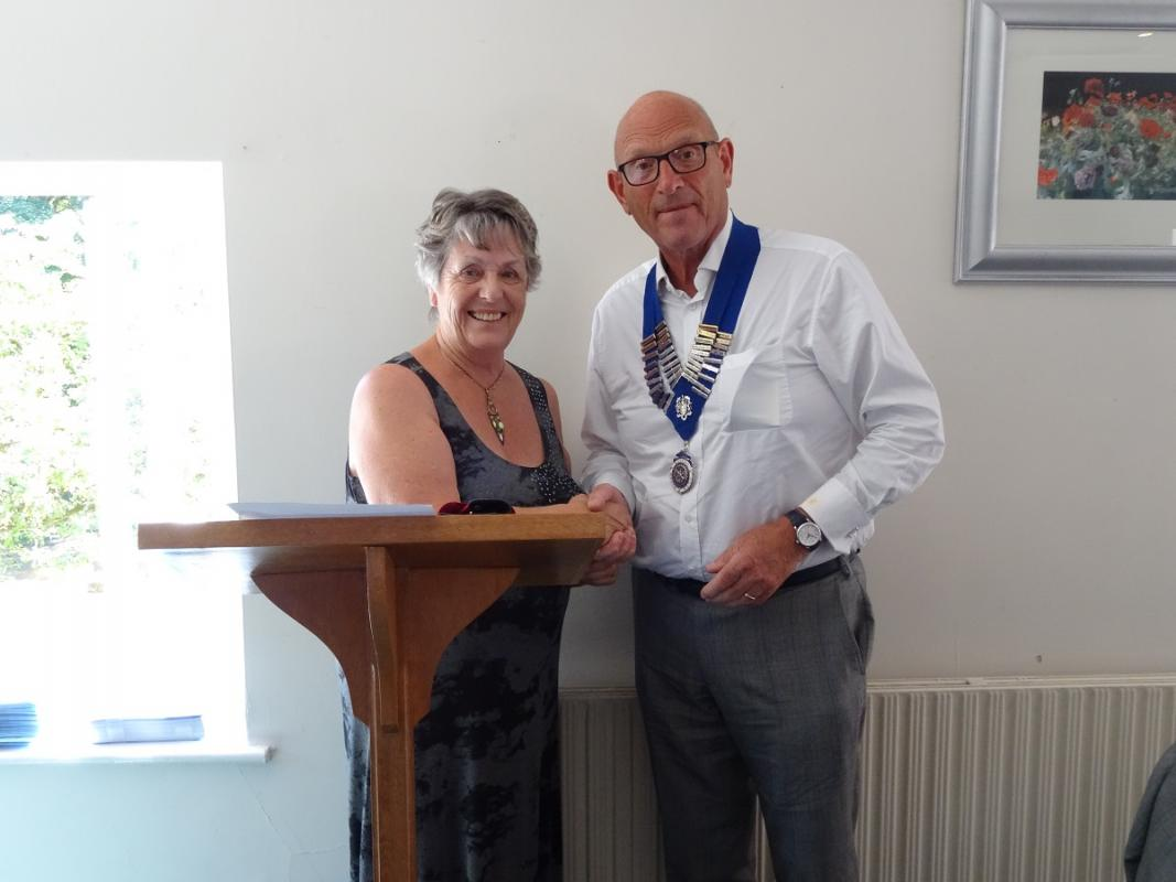 Latest news from the Wigan Rotary Club - Rtn John receives the chain of office