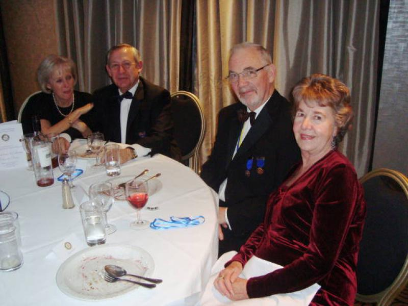 Joint Presidents Night 2014 - Joan & Phil Hopps with David & Marion Robinson