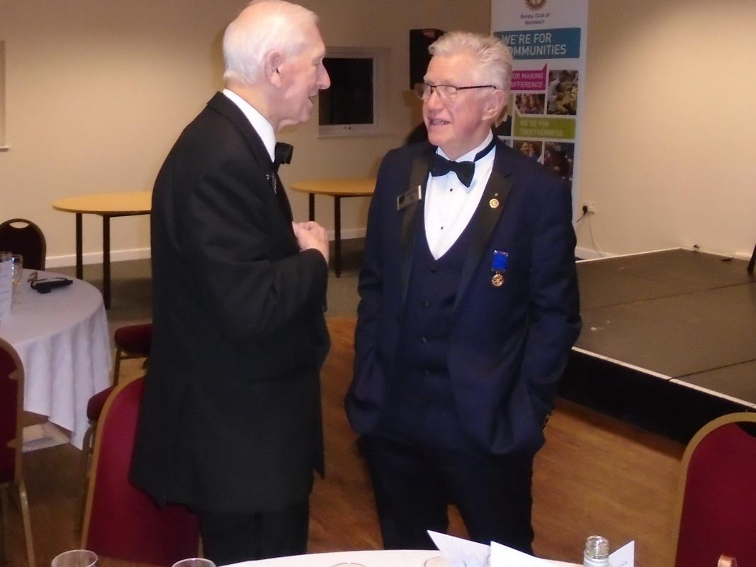 Nantwich Rotary 85th Charter Night - John Fishburne with Colin Booth Northwich Vale Royal