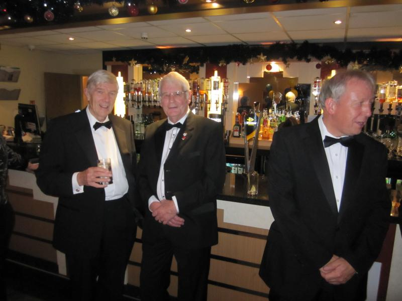 BLACKPOOL SOUTH ROTARY CLUB 2013  CHARTER DINNER.  - John Bamber, Harry Beard and Peter Westhorpe.