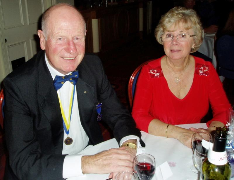 PRESIDENT'S NIGHT DINNER DANCE - John Lipscombe and his wife Carol