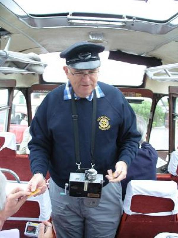 Archive of Skye Rotary Pictures - Note authentic ticket machine!