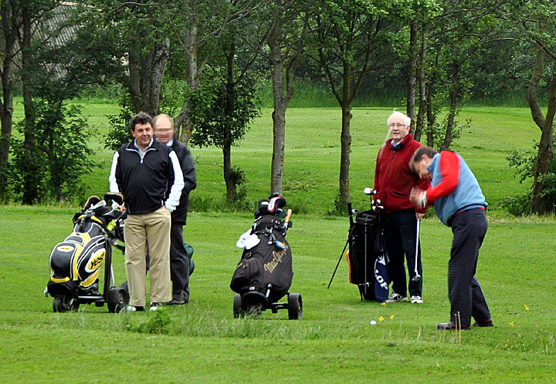 Outside visit - Golf Evening 2012 - John S showing his skills