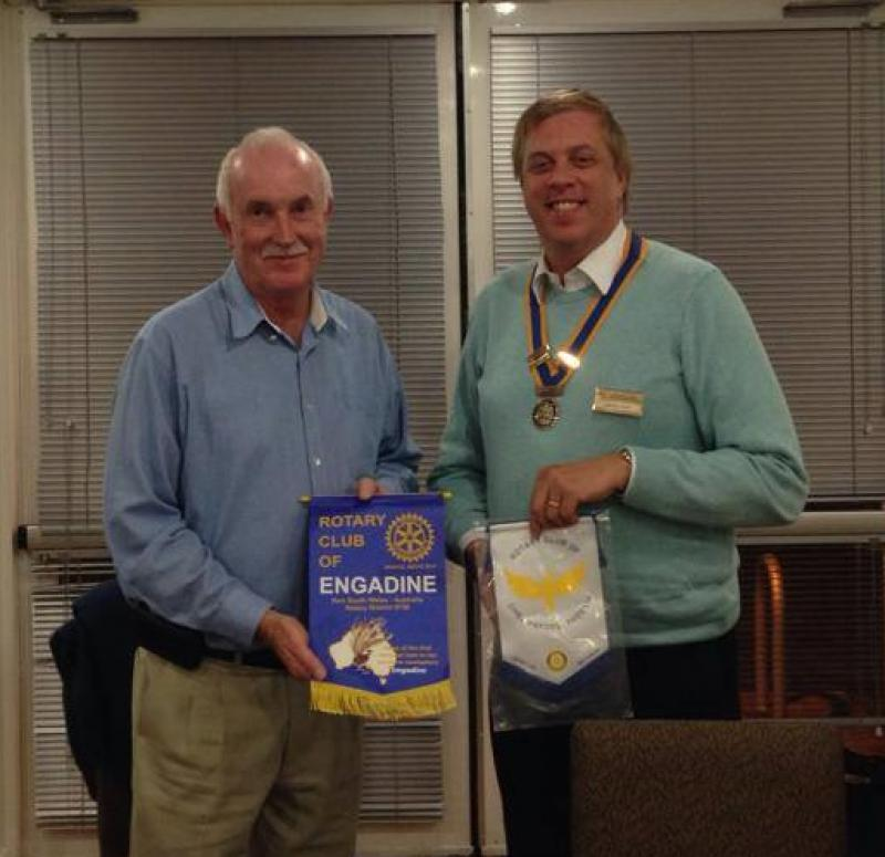 Visits and Visitors - John Walters from the Rotary Club of Engadine  in Australia visited the club in October 2013